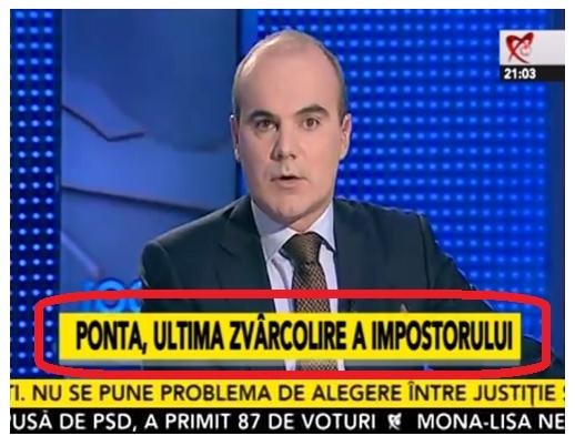 Onoarea famigliei Ponta Bogdan